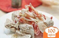 Фото рецепта: «Салат из курицы с креветками»