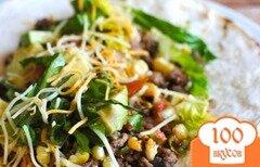 Фото рецепта: «Тако с мясом и авокадо»