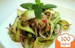 Фото рецепта: «Салат кабачково-мятный»