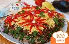 Фото рецепта: «Закусочный торт из баклажановых оладий.»