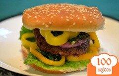Фото рецепта: «Чимичурри гамбургер»