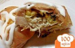 Фото рецепта: «Куриные кармашки с зеленью и сыром»