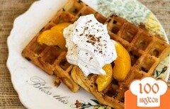Фото рецепта: «Персиковые вафли с корицей»