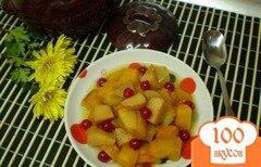 Фото рецепта: «Десерт из тыквы с фруктами»