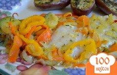 Фото рецепта: «Морской окунь с овощным ассорти»