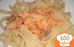 Фото рецепта: «Домашняя яичная лапша с форелью»