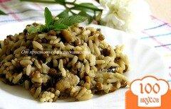 Фото рецепта: «Рис с чечевицей, мидиями, цуккини и мятой»