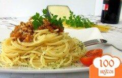 Фото рецепта: «Спагетти под соусом болоньез»