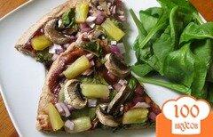 Фото рецепта: «Пицца с грибами и ананасом»