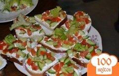 Фото рецепта: «Бутерброд с творожно-чесночным паштетом»