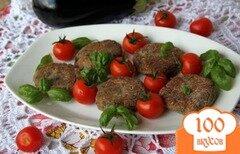 Фото рецепта: «Котлетки из запечёного баклажана с орехами»