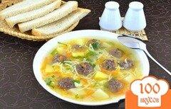 Фото рецепта: «Сытный суп с мясными фрикадельками»