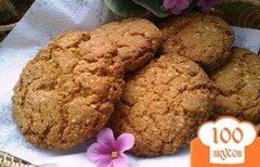Фото рецепта: «Овсяное печенье с кунжутом»