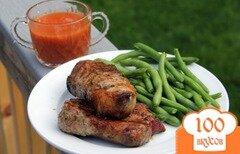 Фото рецепта: «Шашлык из ребрышек с яблочным соусом»