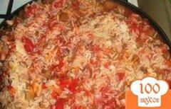 Фото рецепта: «Рис с овощами и индейкой»