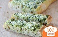 Фото рецепта: «Чесночный хлеб со сливочным маслом и базиликом»
