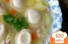 Фото рецепта: «Куриный суп с пельменями»