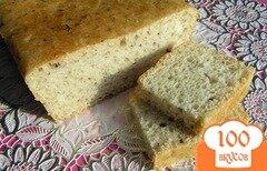 Фото рецепта: «Пшеничный хлеб с базиликом»