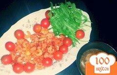 Фото рецепта: «Креветки с рукколой в бальзамическом соусе»
