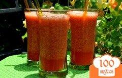 Фото рецепта: «Лимонад апельсин и малина»