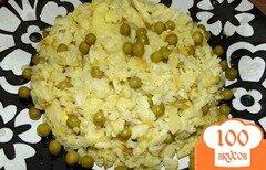 Фото рецепта: «Рисовый омлетик с зеленым горошком»