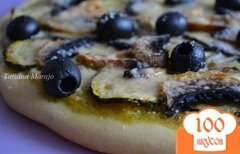 Фото рецепта: «Пицца с цукини и шампиньонами»