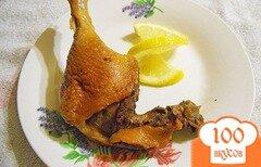 Фото рецепта: «Утинные ножки томленные в лимончелло»