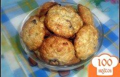 Фото рецепта: «Овсяное печенье с курагой и черносливом»