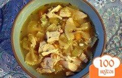 Фото рецепта: «Куриный суп с макаронами»