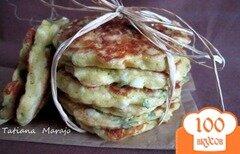 Фото рецепта: «Оладьи с яйцом, зеленым луком и сыром»