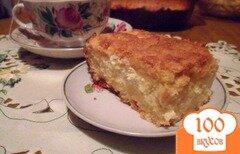 """Фото рецепта: «Пирог с творогом и яблоками """"Нежность""""»"""