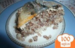 Фото рецепта: «Скумбрия с гречневой кашей»