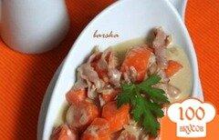 Фото рецепта: «Морковка под соусом Карбонара»