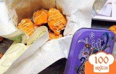 Фото рецепта: «Домашние конфетки из шоколада со вкусом апельсина. Вкусный, съедобный подарок!»