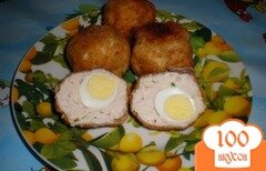 Фото рецепта: «Куриные шарики с перепелиными яйцами»