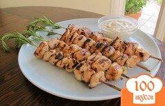 Фото рецепта: «Куриный шашлык на веточках розмарина»