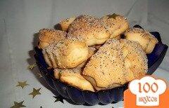 Фото рецепта: «Печенье дрожжевое слоеное»