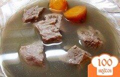 Фото рецепта: «Мясо с горячим овощным бульоном»