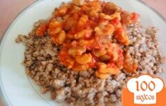 Фото рецепта: «Гречка с курицей в томатном соусе»