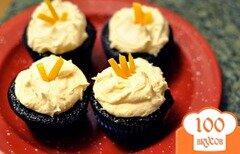 Фото рецепта: «Шоколадно-апельсиновые капкейки»