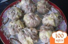 Фото рецепта: «Свиные мешочки с грибами и сыром»