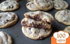 Фото рецепта: «Кокосовое печенье с шоколадом»