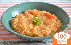 Фото рецепта: «Томатный суп-похлёбка с кускусом, сладким перчиком и острым чили»