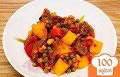 Фото рецепта: «Говядина с овощами в мультиварке»