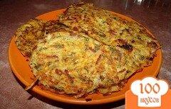 Фото рецепта: «Драники с колбасой»