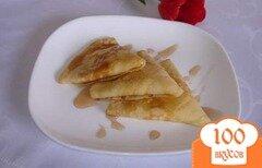 Фото рецепта: «Вкусные кукурузные блинчики с творожной начинкой и кумкватом»