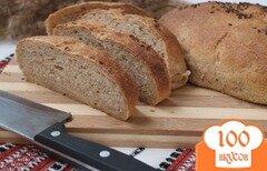 Фото рецепта: «Горчичный хлеб из цельнозерновой муки с семенами льна»