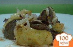 Фото рецепта: «Печень с яблоками»