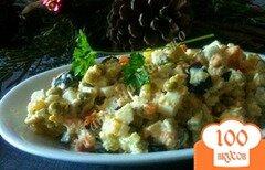 Фото рецепта: «Салат с крабами и оливками»