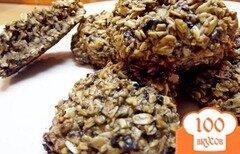Фото рецепта: «Овсяное печенье с черничным вареньем»